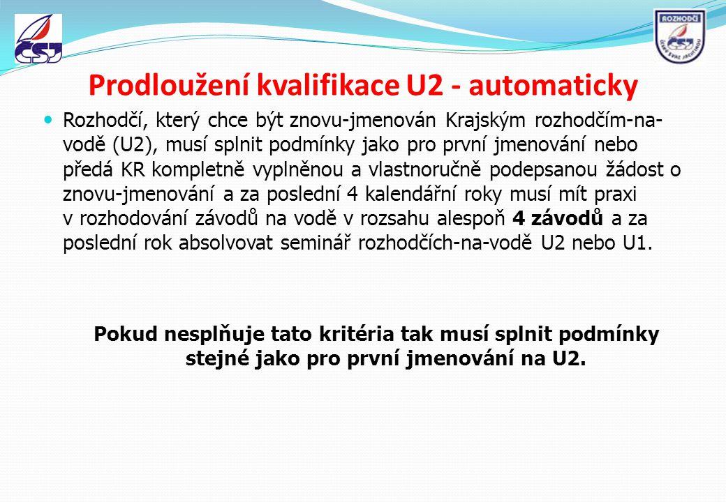 Prodloužení kvalifikace U2 - automaticky