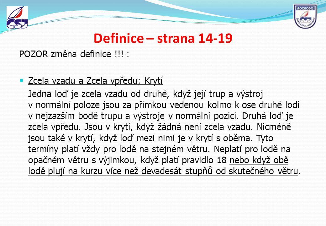 Definice – strana 14-19 POZOR změna definice !!! :