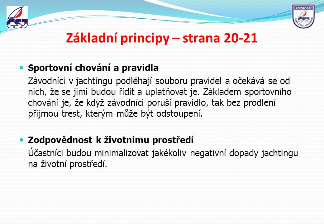 Základní principy – strana 20-21
