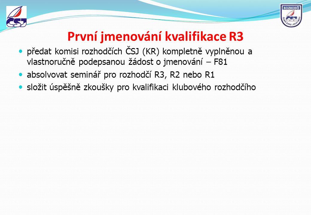 První jmenování kvalifikace R3