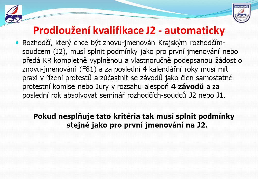 Prodloužení kvalifikace J2 - automaticky
