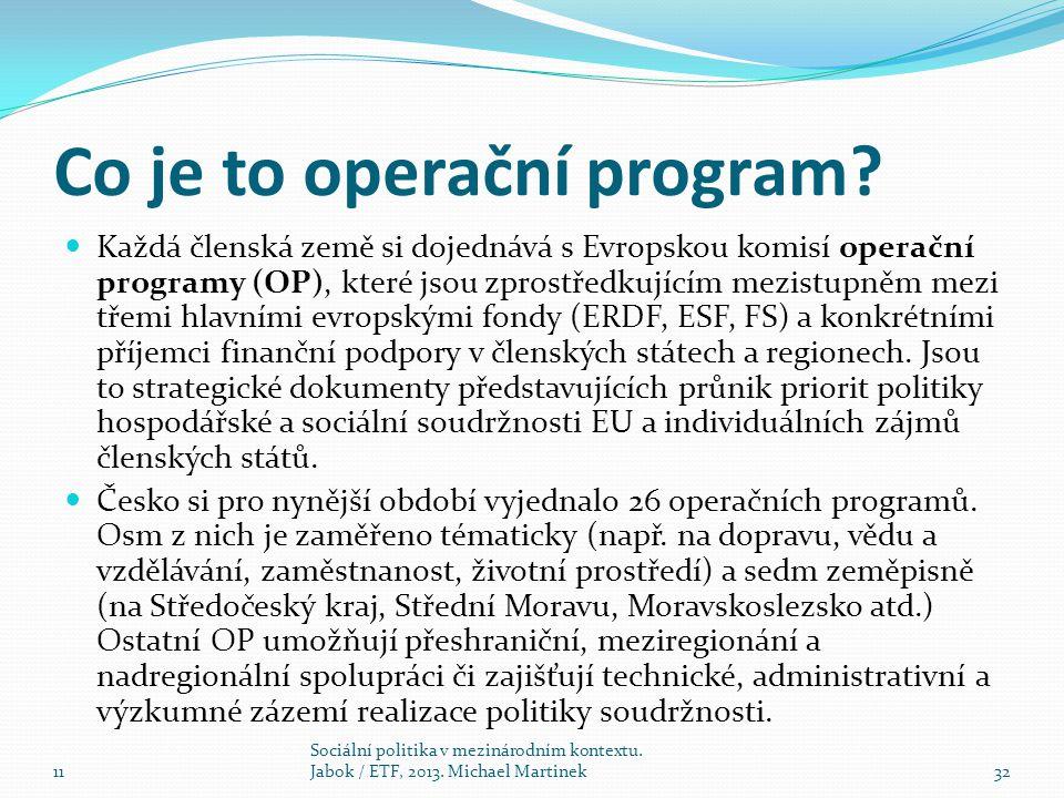 Co je to operační program