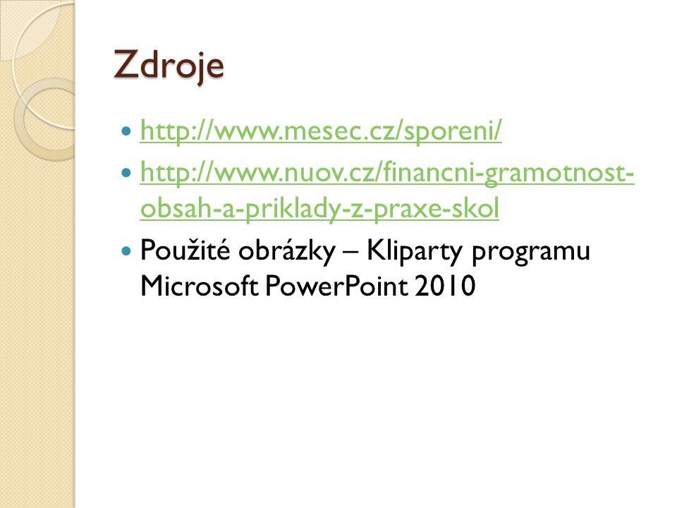 Zdroje http://www.mesec.cz/sporeni/