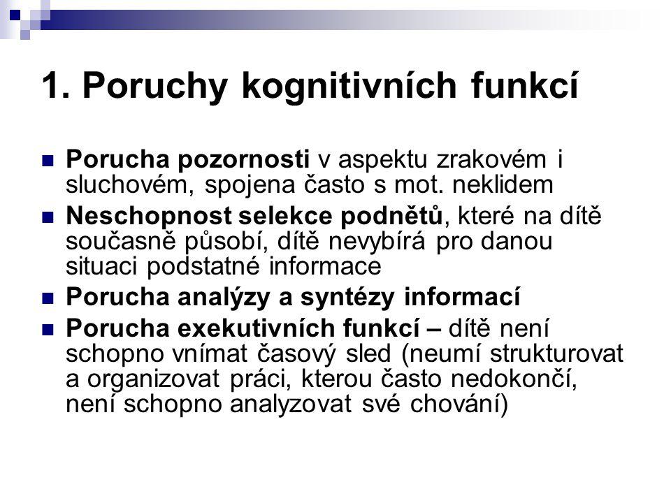 1. Poruchy kognitivních funkcí
