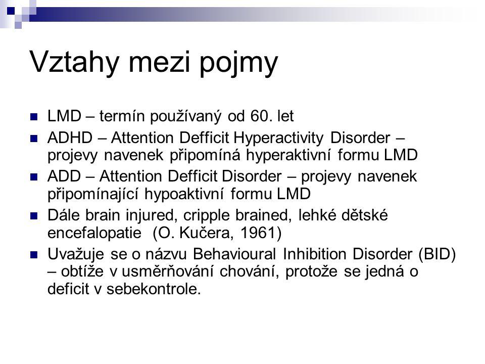 Vztahy mezi pojmy LMD – termín používaný od 60. let