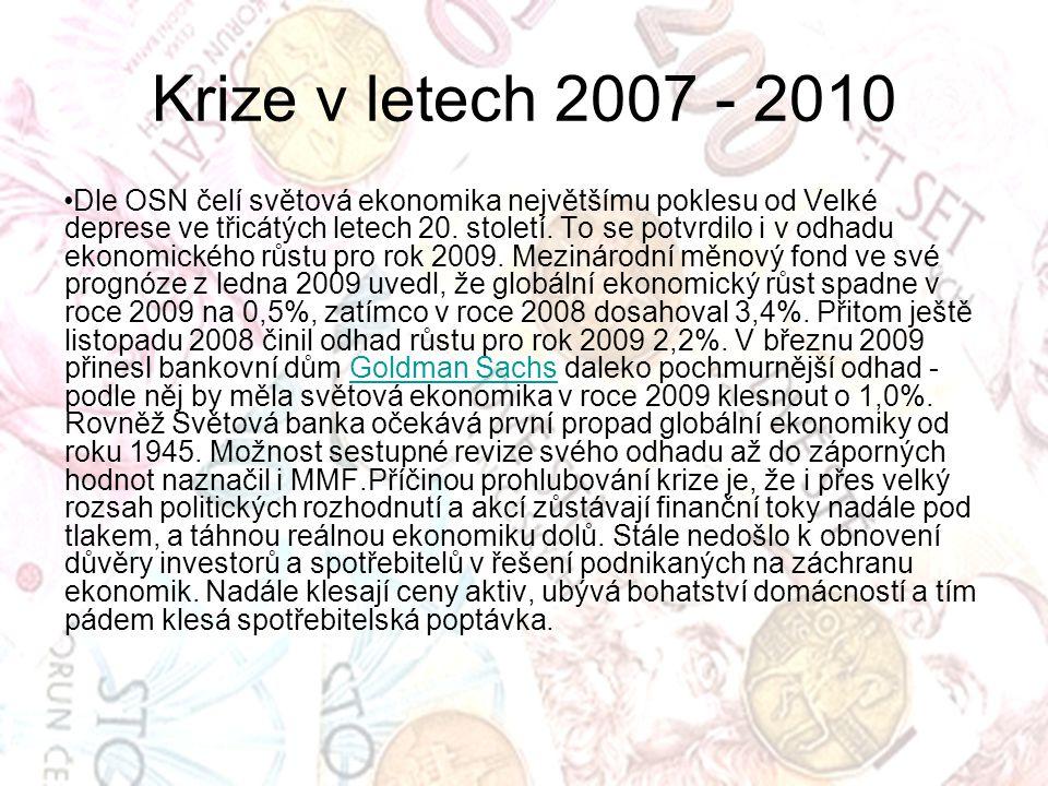 Krize v letech 2007 - 2010