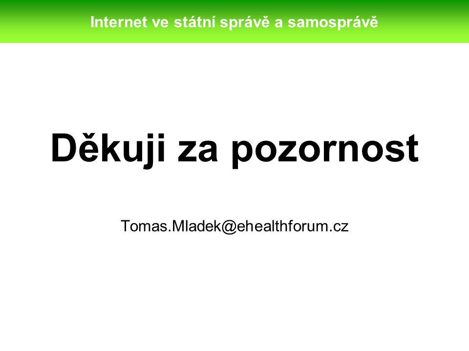 Internet ve státní správě a samosprávě
