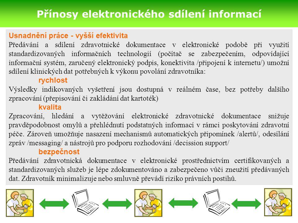 Přínosy elektronického sdílení informací