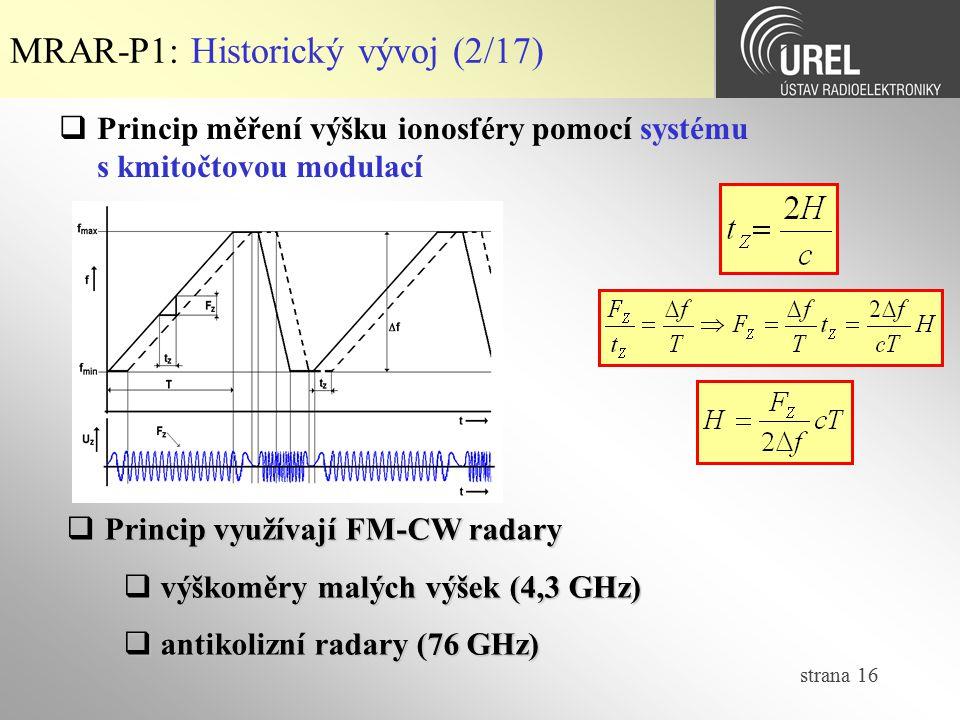 MRAR-P1: Historický vývoj (2/17)