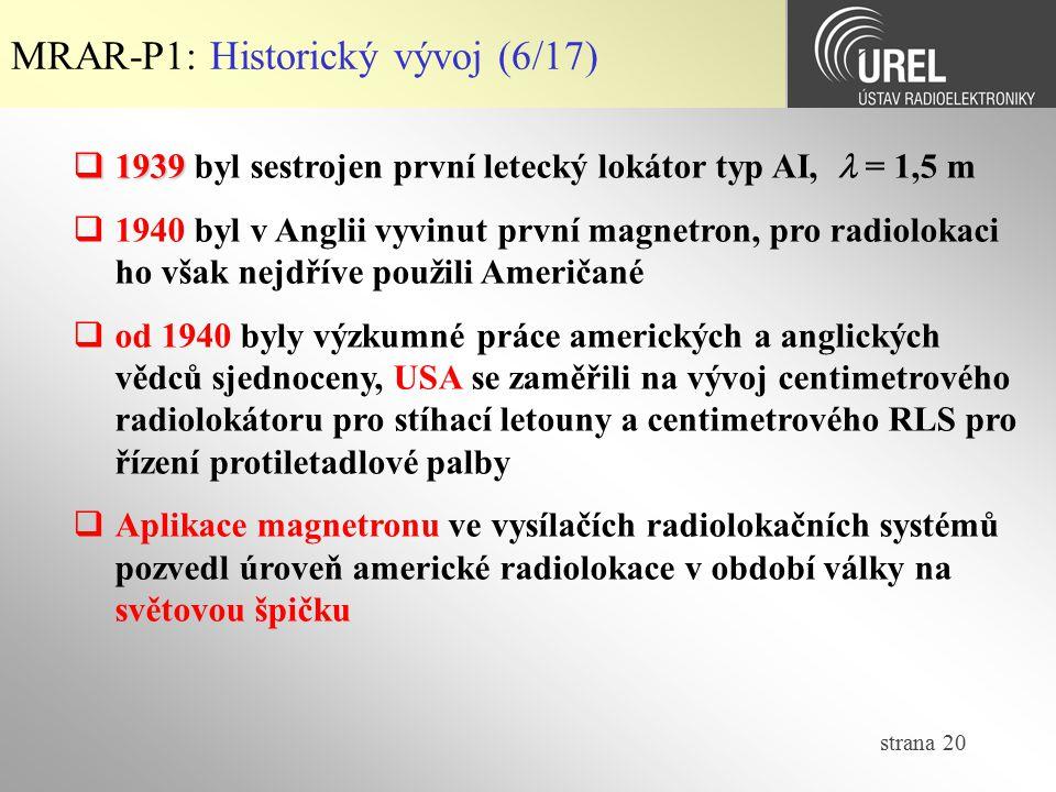 MRAR-P1: Historický vývoj (6/17)