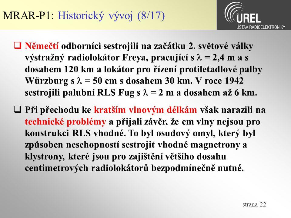 MRAR-P1: Historický vývoj (8/17)