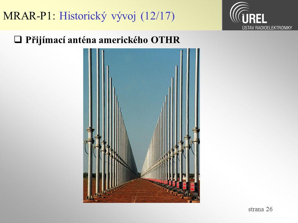 MRAR-P1: Historický vývoj (12/17)