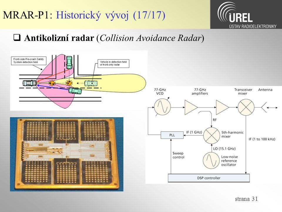 MRAR-P1: Historický vývoj (17/17)