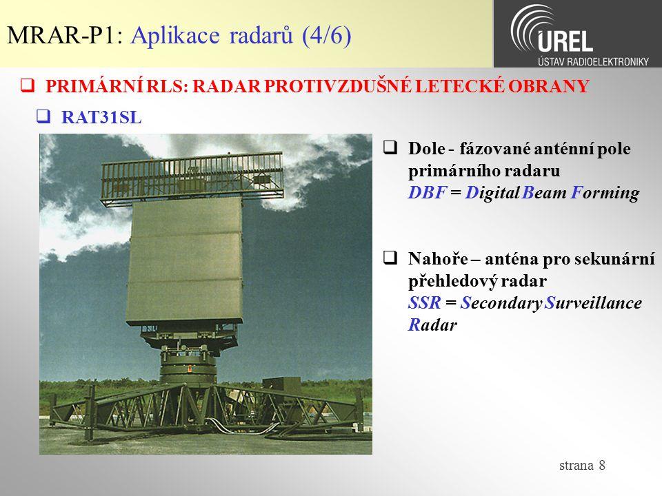 MRAR-P1: Aplikace radarů (4/6)