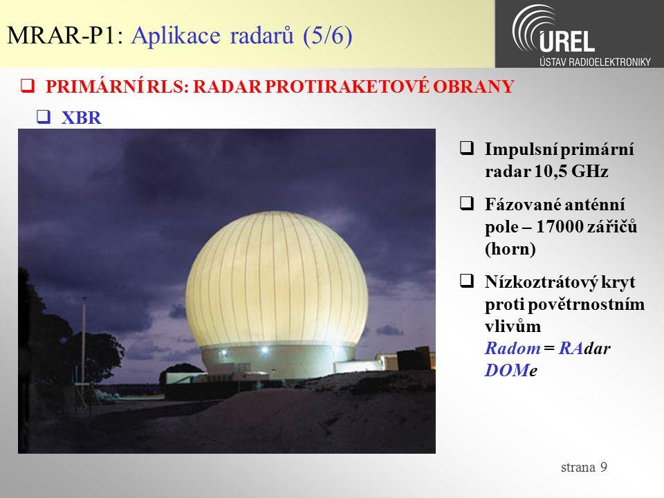 MRAR-P1: Aplikace radarů (5/6)