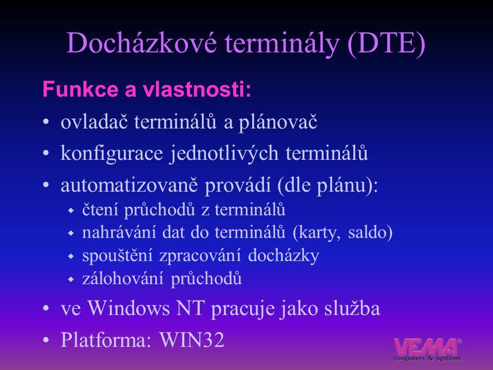 Docházkové terminály (DTE)