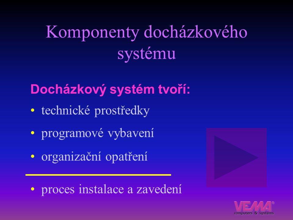 Komponenty docházkového systému