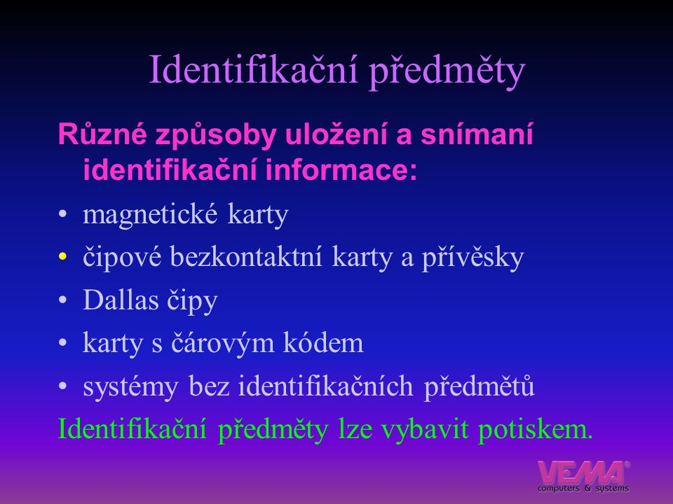 Identifikační předměty