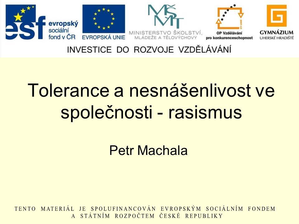 Tolerance a nesnášenlivost ve společnosti - rasismus