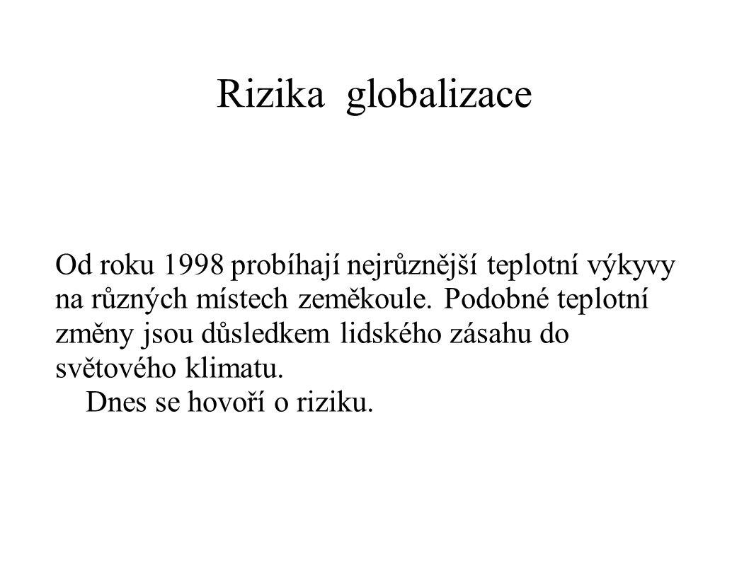 Rizika globalizace
