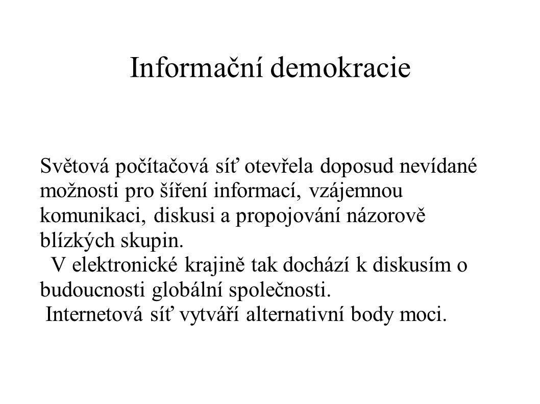 Informační demokracie