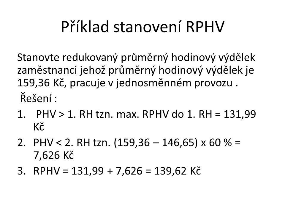 Příklad stanovení RPHV