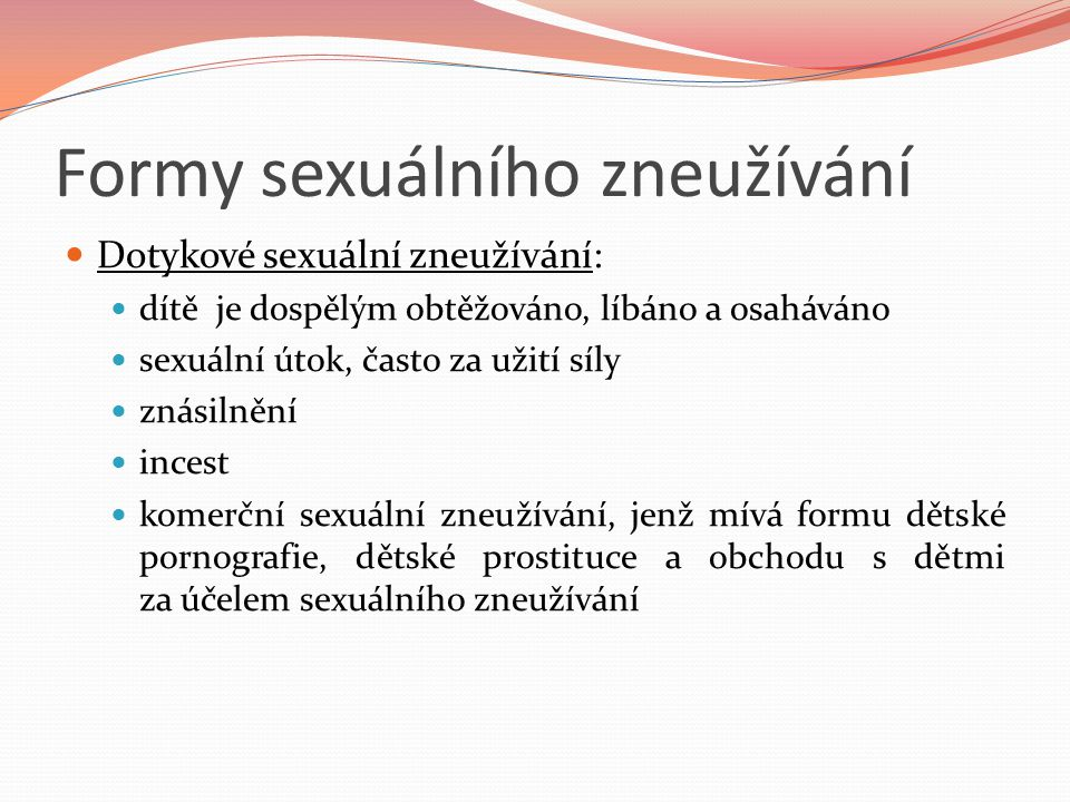 Formy sexuálního zneužívání