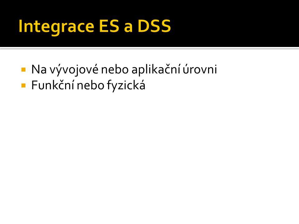 Integrace ES a DSS Na vývojové nebo aplikační úrovni