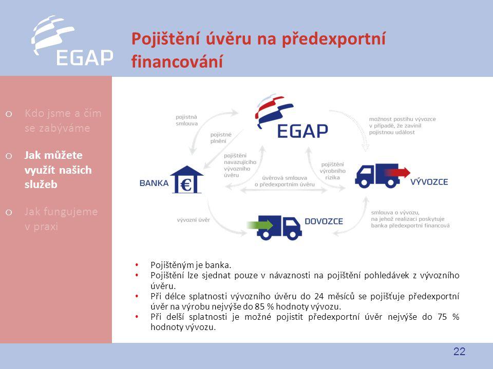 Pojištění úvěru na předexportní financování