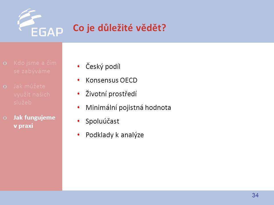 Co je důležité vědět Český podíl Konsensus OECD Životní prostředí