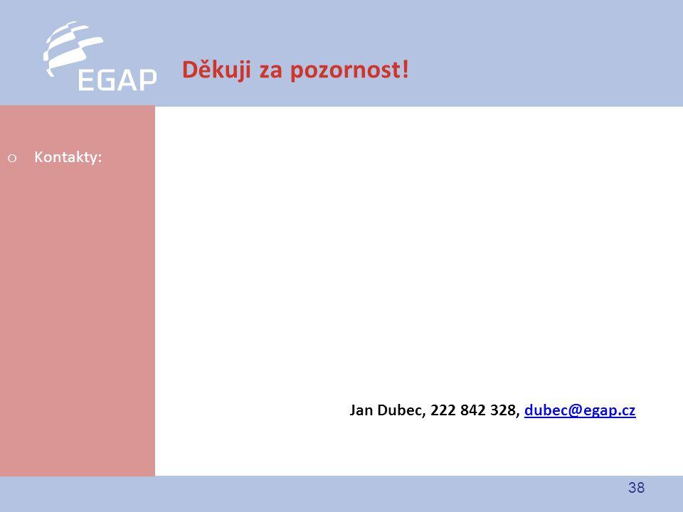 Děkuji za pozornost! Kontakty: Jan Dubec, 222 842 328, dubec@egap.cz