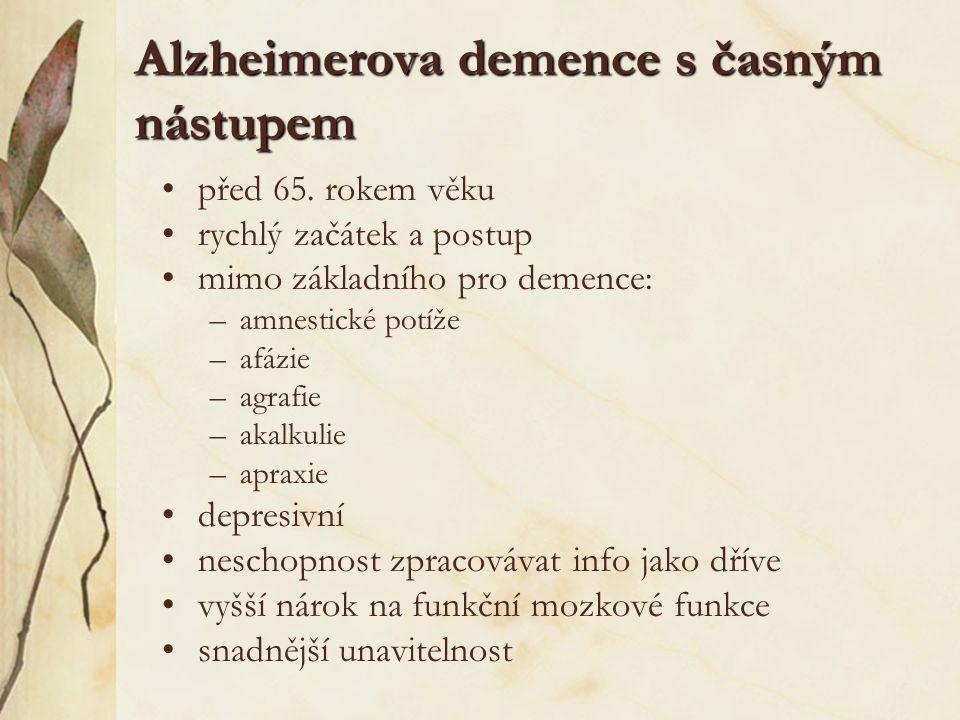 Alzheimerova demence s časným nástupem