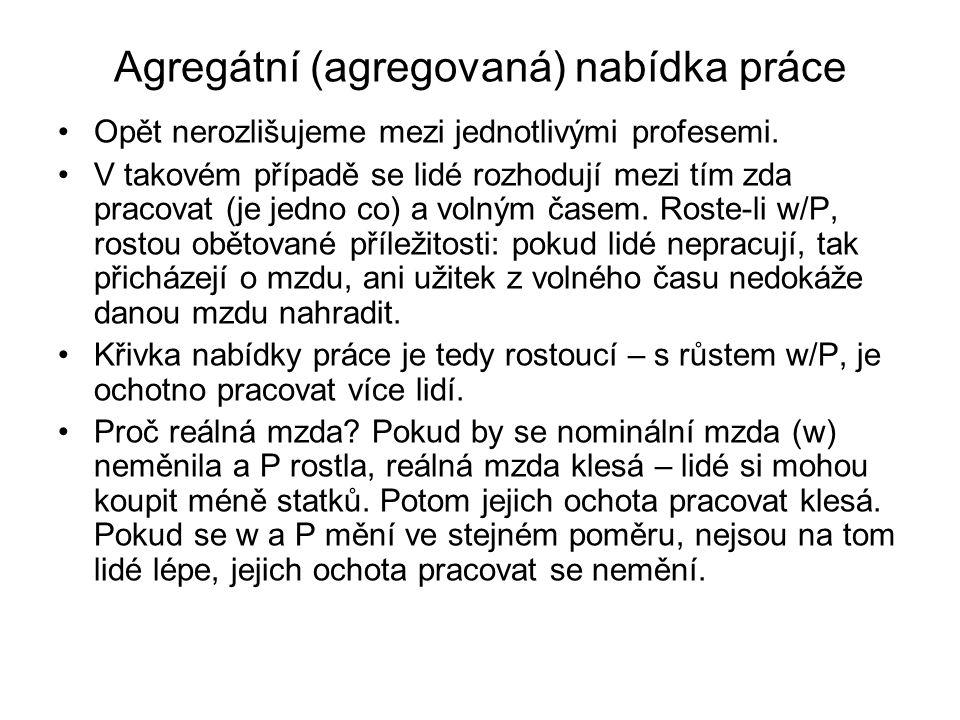 Agregátní (agregovaná) nabídka práce