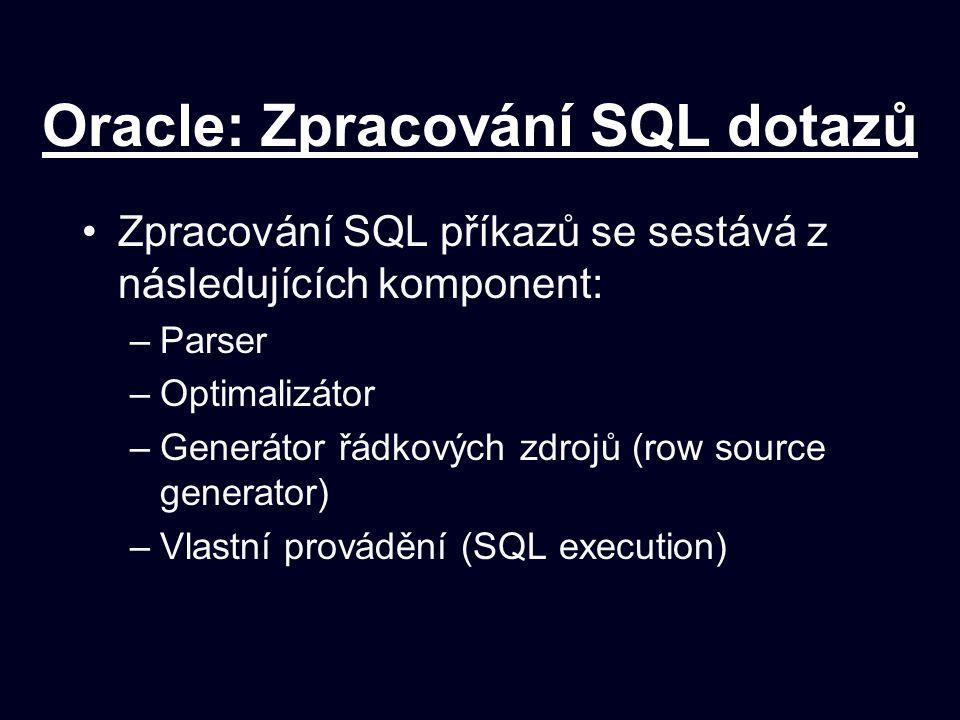 Oracle: Zpracování SQL dotazů
