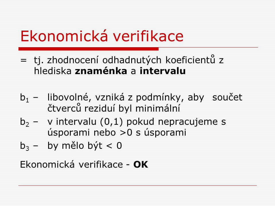 Ekonomická verifikace