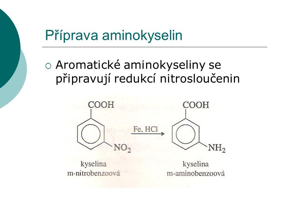 Příprava aminokyselin
