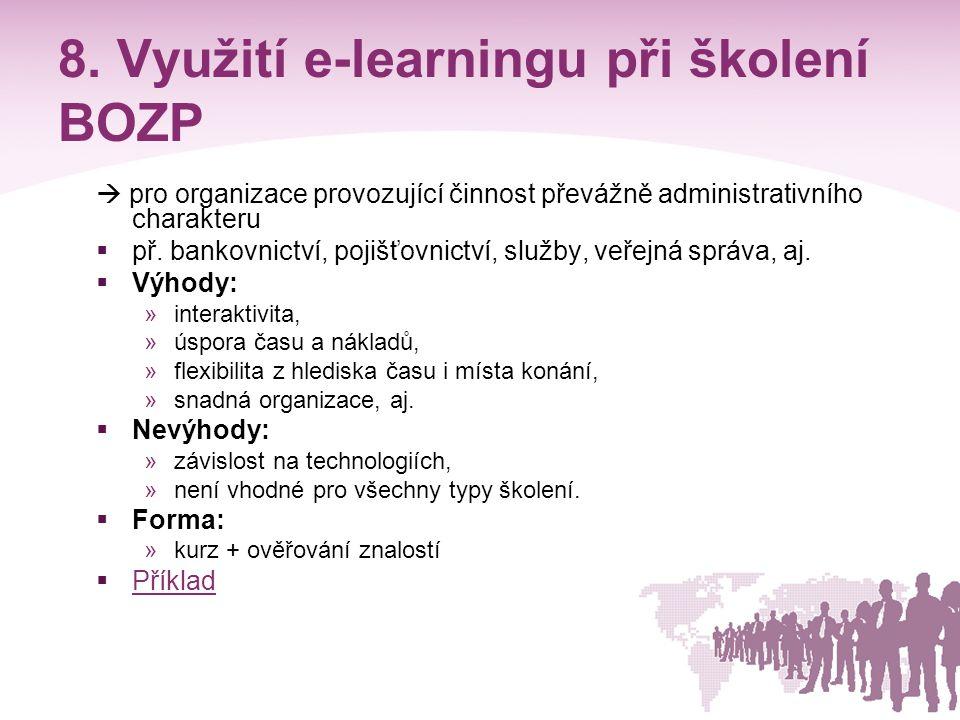 8. Využití e-learningu při školení BOZP