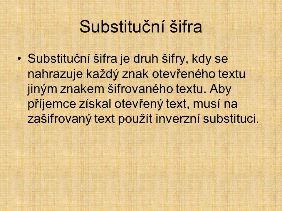 Substituční šifra