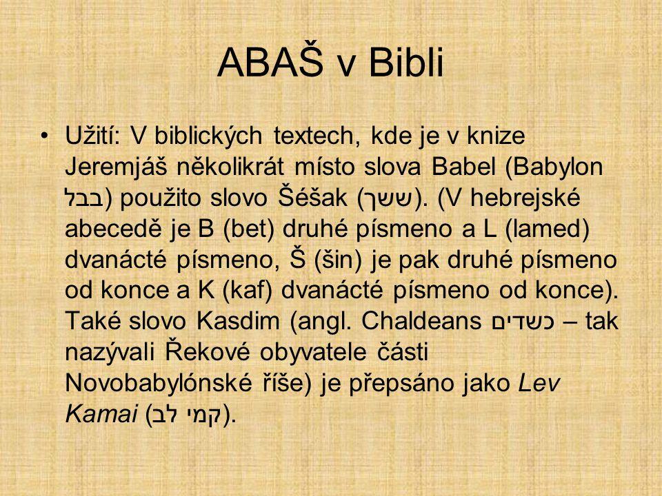 ABAŠ v Bibli