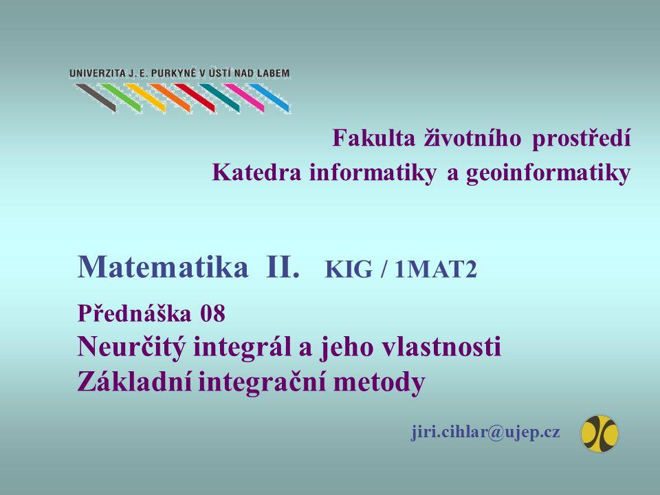 Fakulta životního prostředí Katedra informatiky a geoinformatiky