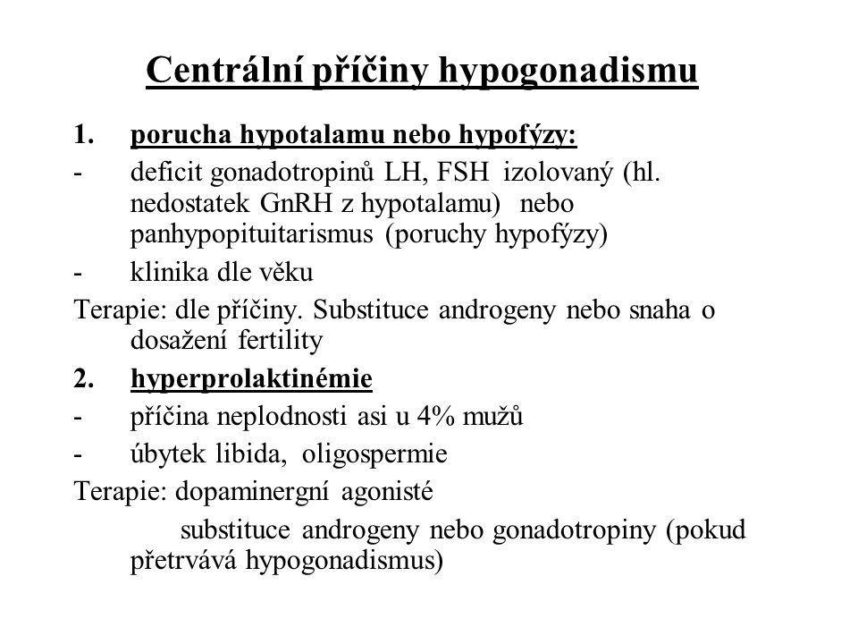 Centrální příčiny hypogonadismu