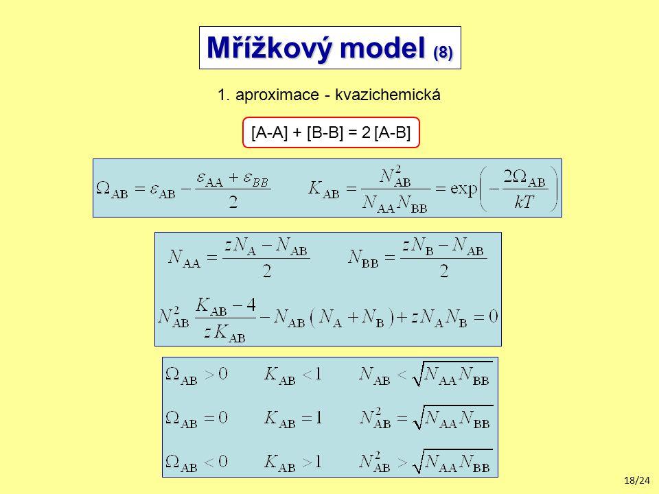 Mřížkový model (8) 1. aproximace - kvazichemická