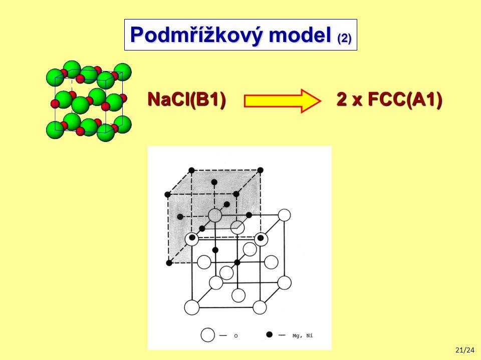 Podmřížkový model (2) NaCl(B1) 2 x FCC(A1)