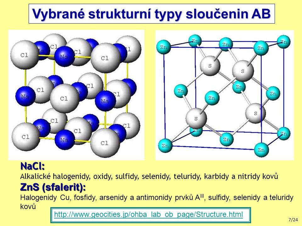 Vybrané strukturní typy sloučenin AB