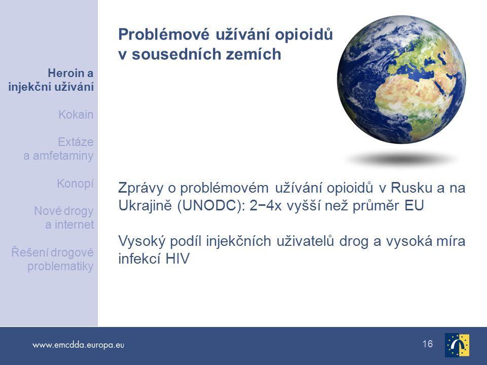 Problémové užívání opioidů v sousedních zemích