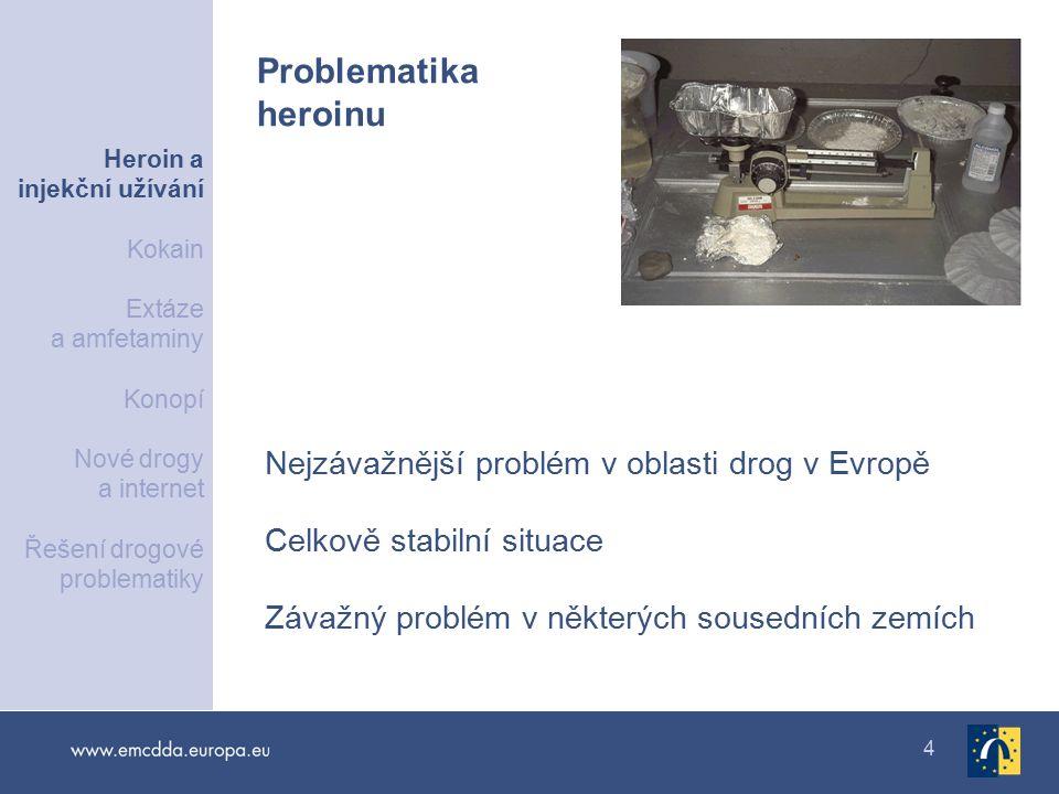 Problematika heroinu Nejzávažnější problém v oblasti drog v Evropě