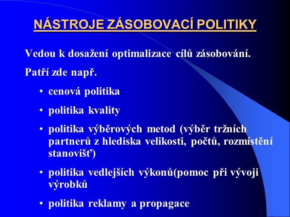 NÁSTROJE ZÁSOBOVACÍ POLITIKY