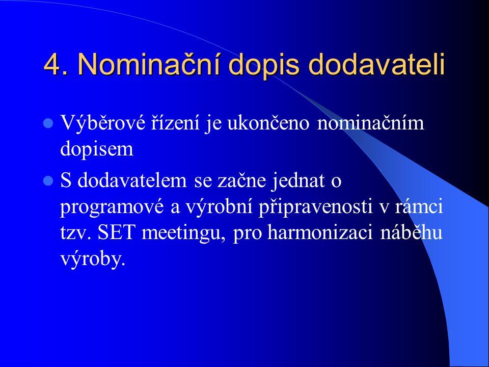 4. Nominační dopis dodavateli