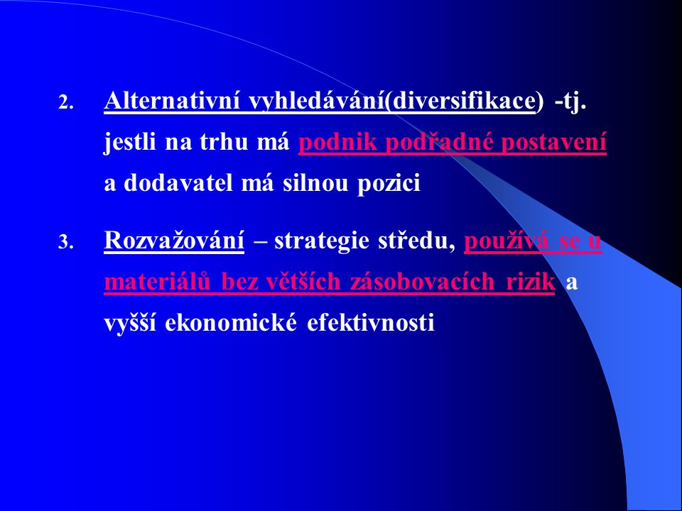 Alternativní vyhledávání(diversifikace) -tj
