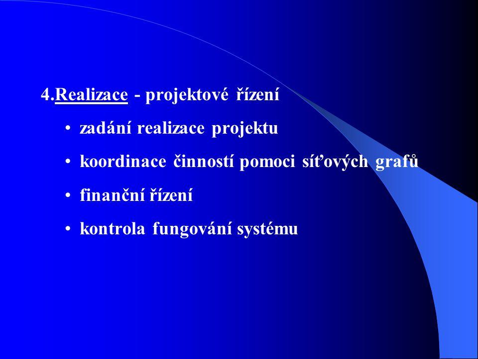 4.Realizace - projektové řízení